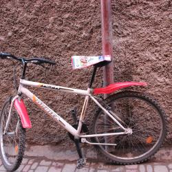Bycicle on wall