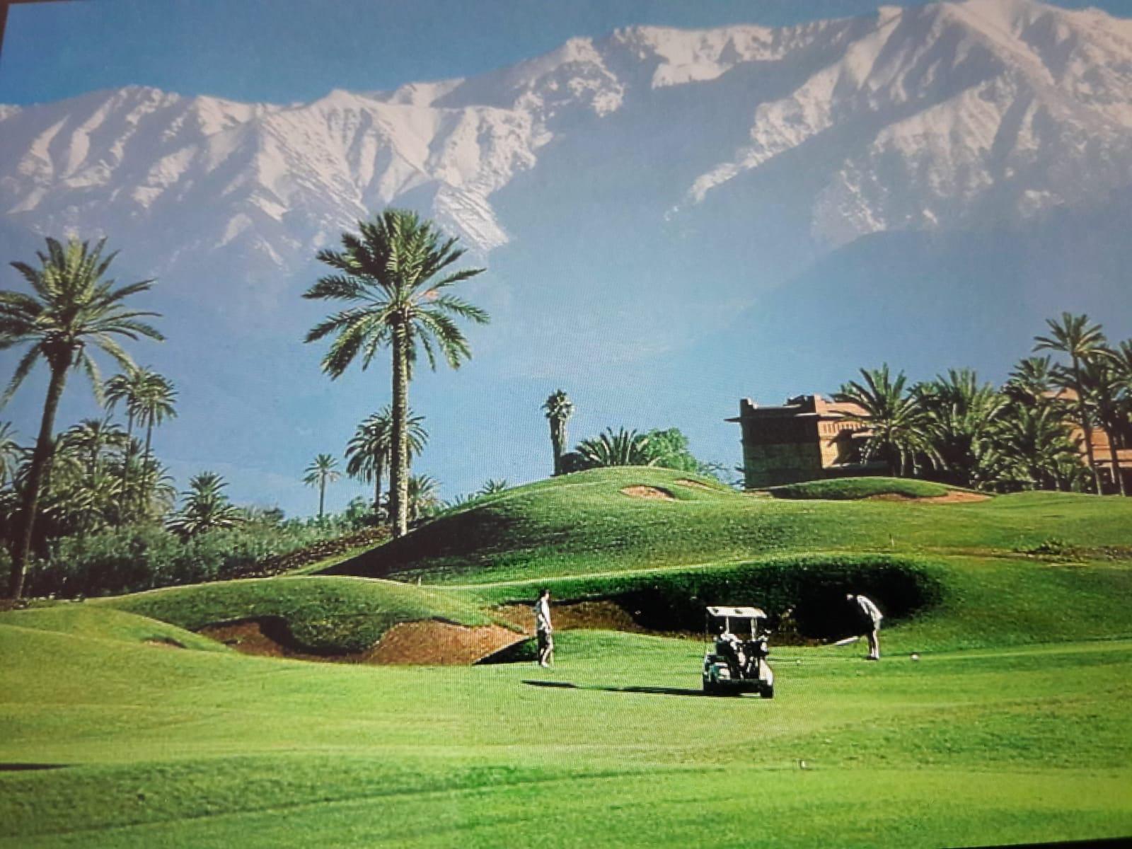 View from Amelkis Golf to Atlas mountains
